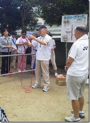 葉桜の防災訓練①