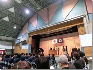 ブログ用 12.03.09 沼間中卒業式