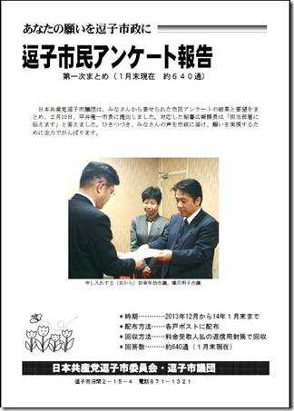 14年市民アンケート報告書の表紙